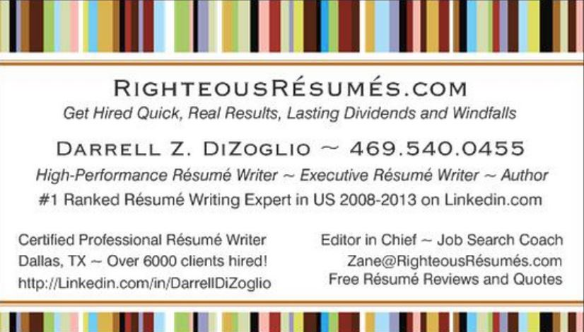 DARRELL DIZOGLIO, Certified Professional Résumé Writer U0026 Executive Résumé  Writer In Dallas, TX. Save My ECard And Share It With Friends.  Performance Resume