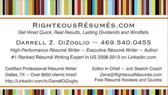 RighteousRsumscom Call 4695400455 Today HOME